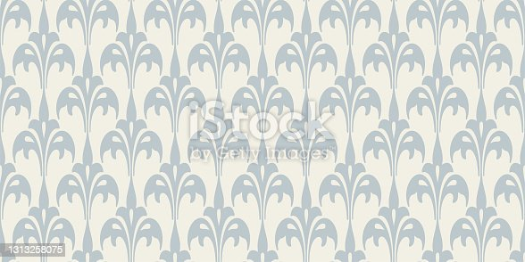 istock Background pattern with floral ornament on a white background in vintage style. Seamless pattern, texture 1313258075