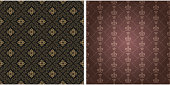 Background patterns.  Colors: black, brown, gold. Background image in retro style. Floral pattern, wallpaper texture. Vector image, vintage