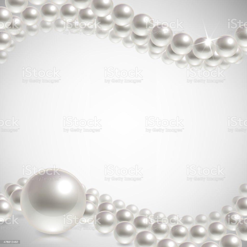 background pearls vector art illustration