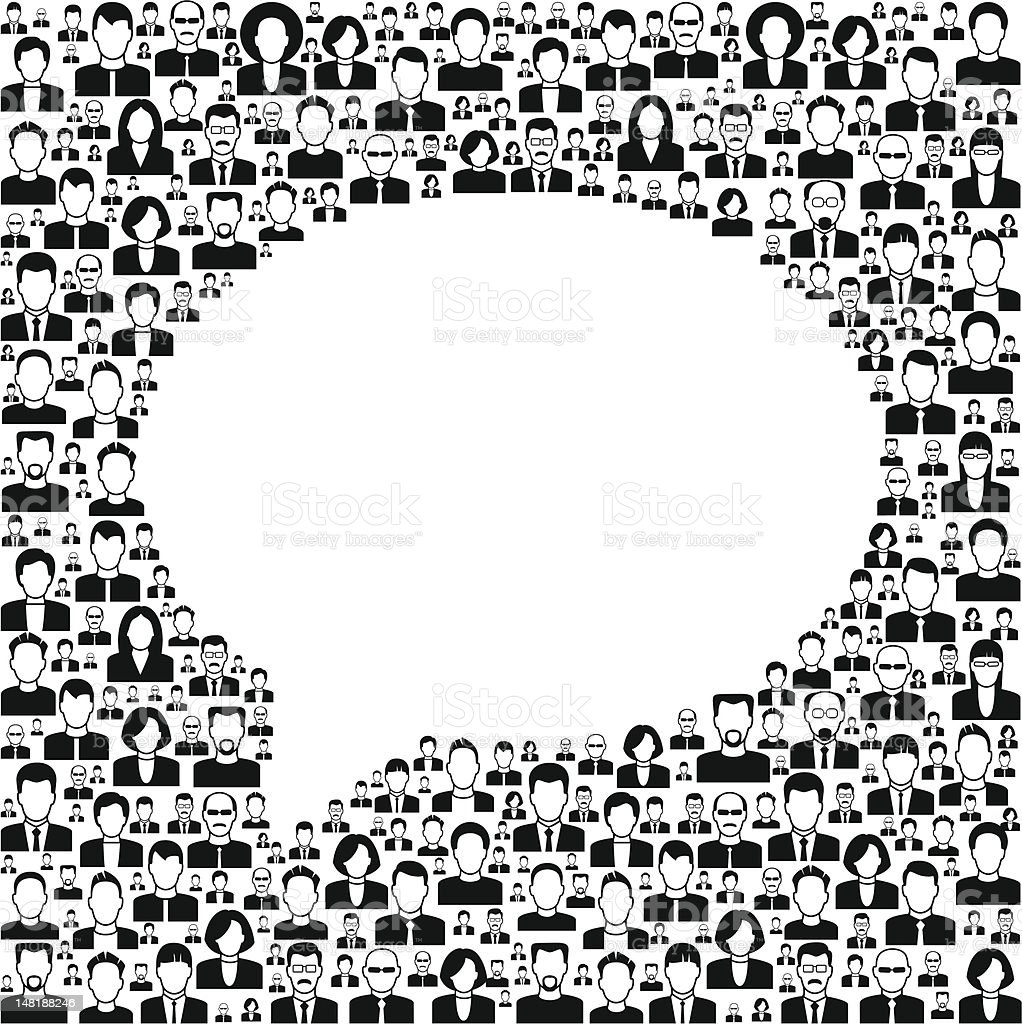 Background People With Speech Bubble Stock Vector Art