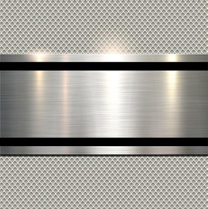 Background polished metal