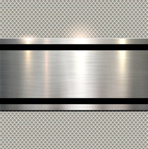 Background polished metal向量藝術插圖