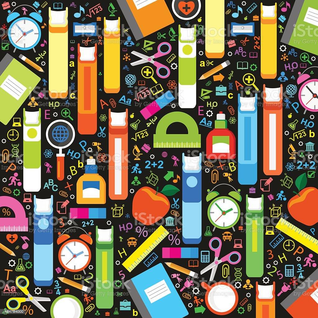 Background school vector art illustration