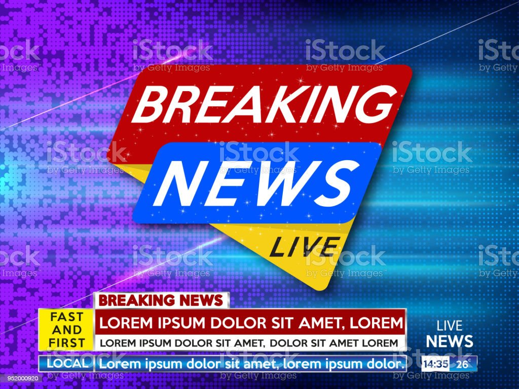 Background Screen Saver On Breaking News Live Dots Vector Illustration
