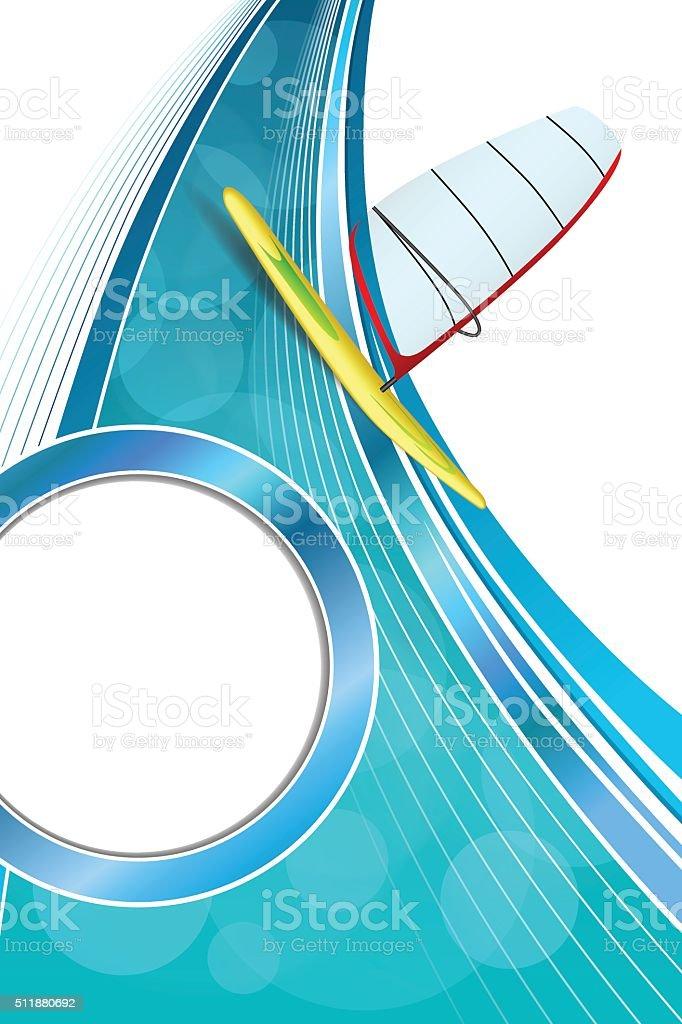Ilustración de Fondo De Vacaciones Mar Deporte Diseño Rojo Verde ...