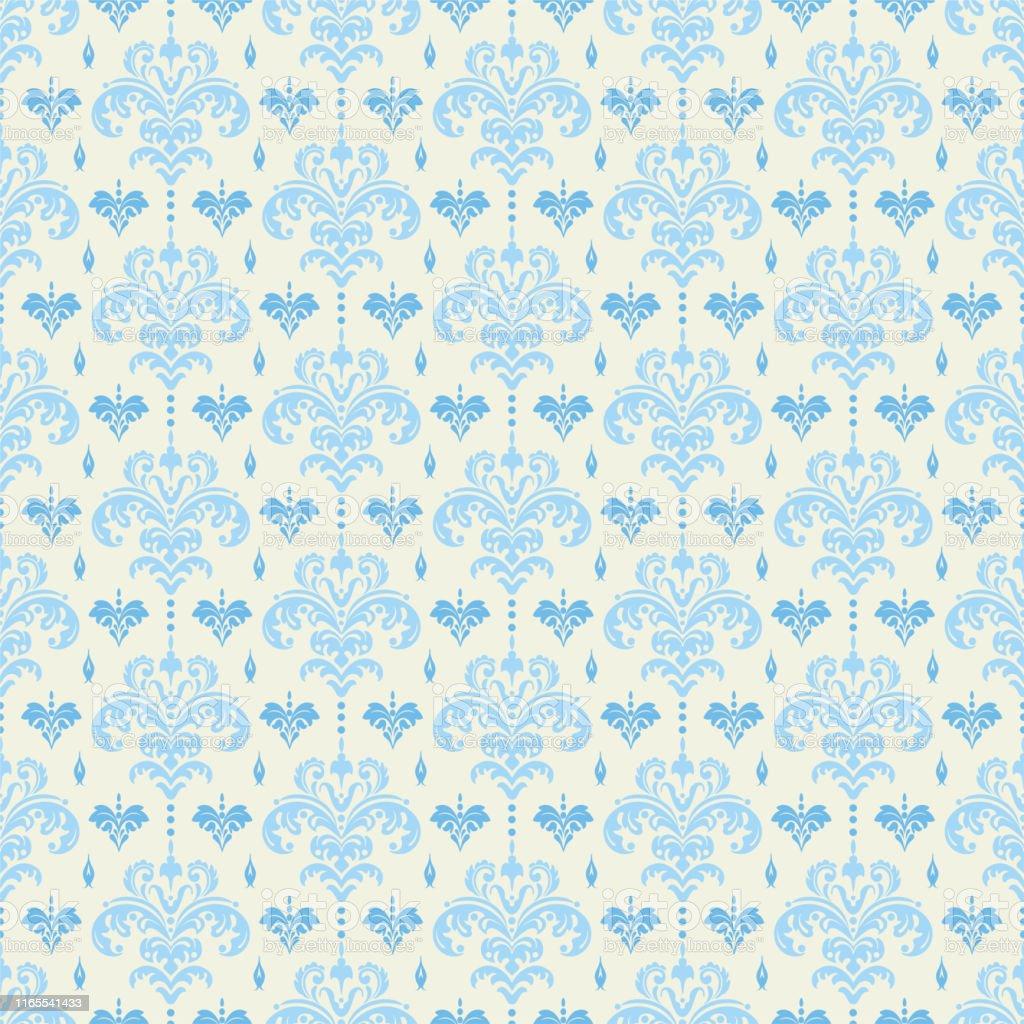 Background Seamless Pattern Retro Vintage Damask Wallpaper