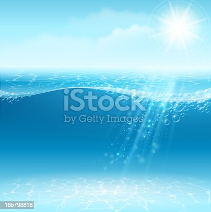 Vector illustration - Water background