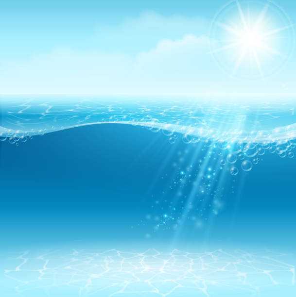 stockillustraties, clipart, cartoons en iconen met a background showing a bubbly ocean on a sunny day - spatten activiteit
