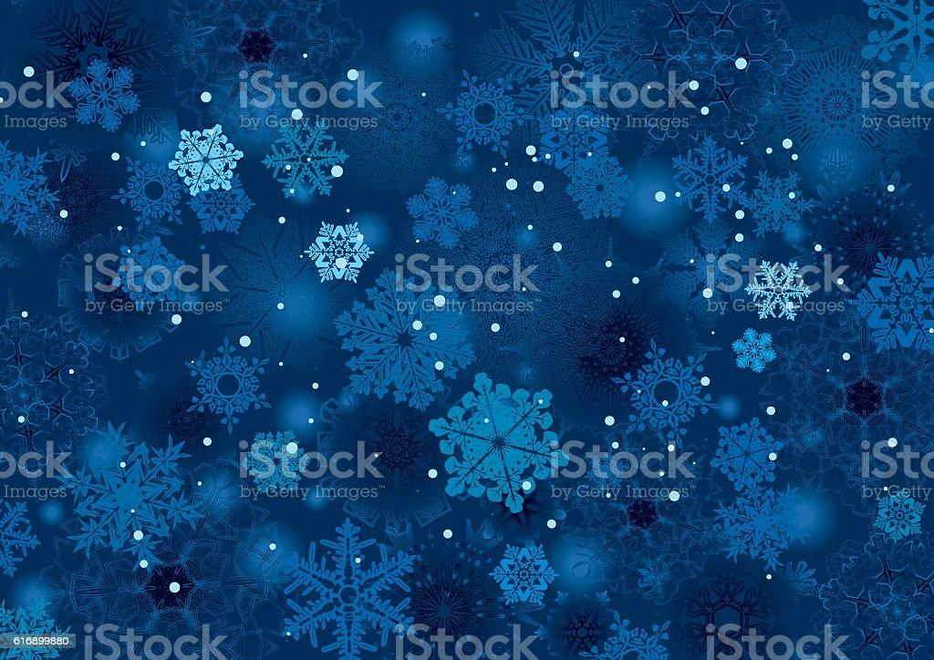 Background snowflake winter night design - Grafika wektorowa royalty-free (Abstrakcja)