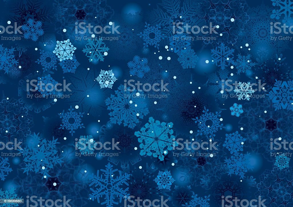 Background snowflake winter night design vector art illustration