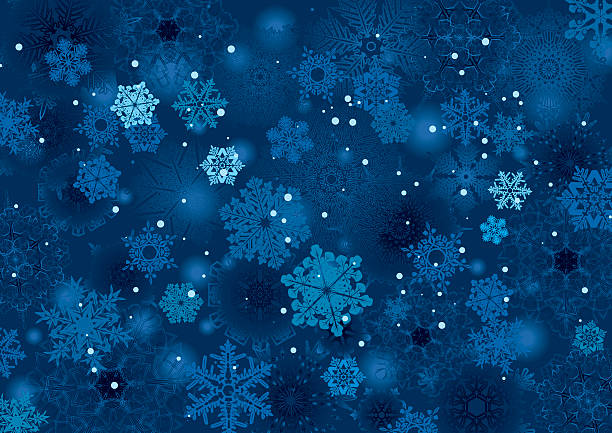 background snowflake winter night design - holiday backgrounds stock illustrations, clip art, cartoons, & icons