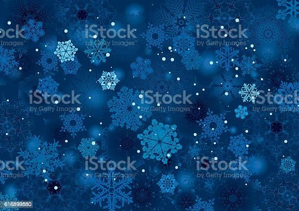 Background Snowflake Winter Night Design - Stockowe grafiki wektorowe i więcej obrazów Abstrakcja