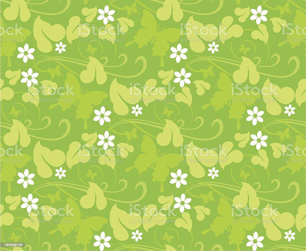 春の花のシームレスなパターン背景壁紙 イラストレーションの