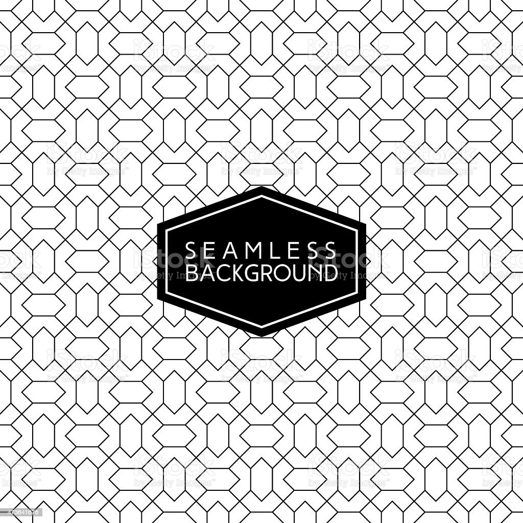 A background template with black and white seamless pattern vector art illustration