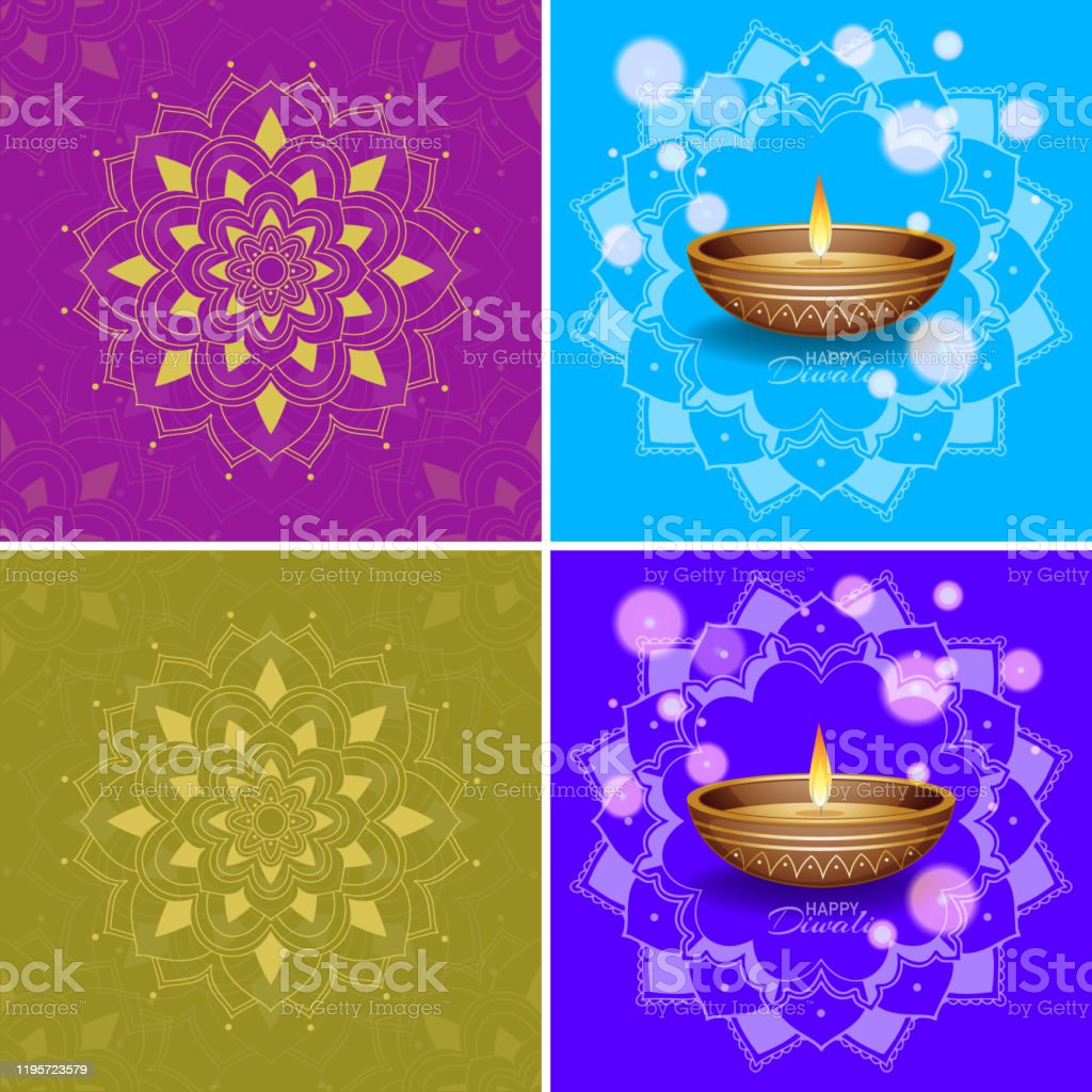 Background Template With Mandala Designs Stock Illustration Download Image Now Istock
