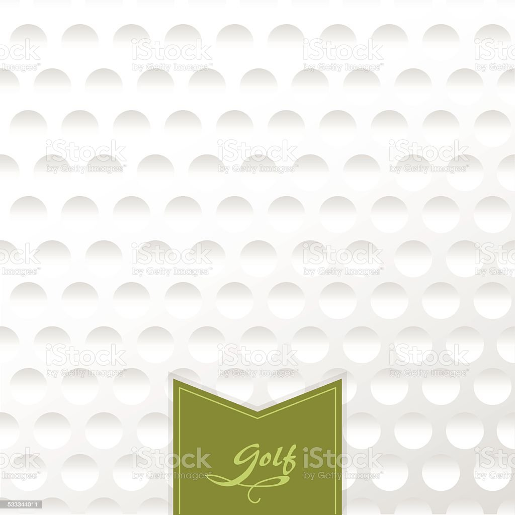 Background texture of a golf ball with a label. vector art illustration