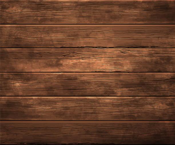 배경, 오래 된 나무의 질감입니다. 매우 현실적인 그림입니다. - 목재 재료 stock illustrations