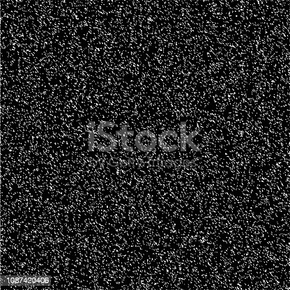 Background texture stone asphalt granite, vector abstract noise on TV screen, no signal