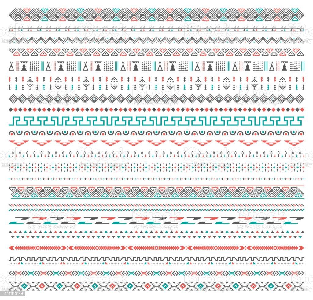 Tribal patrón de fondo - ilustración de arte vectorial