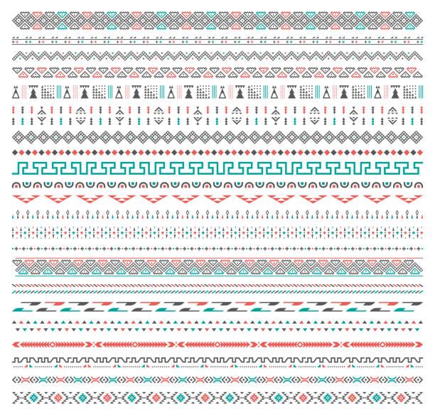 background tribal pattern - tribal pattern stock illustrations, clip art, cartoons, & icons