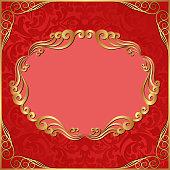 ornate background with golden frame