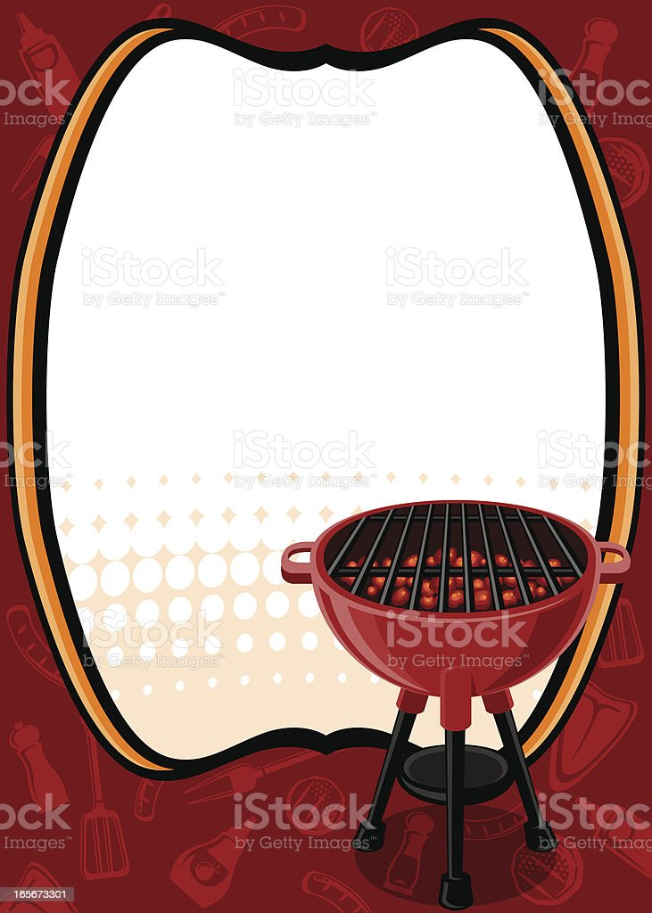 BBQ background royalty-free stock vector art
