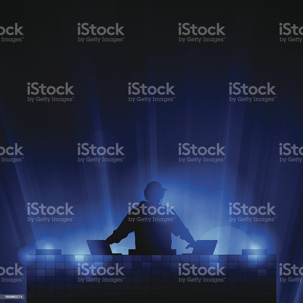 DJ Background vector art illustration