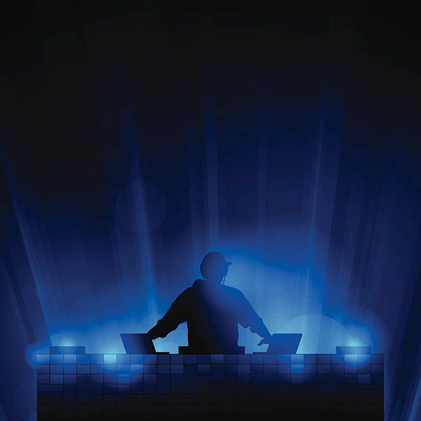 stockillustraties, clipart, cartoons en iconen met dj background - dj