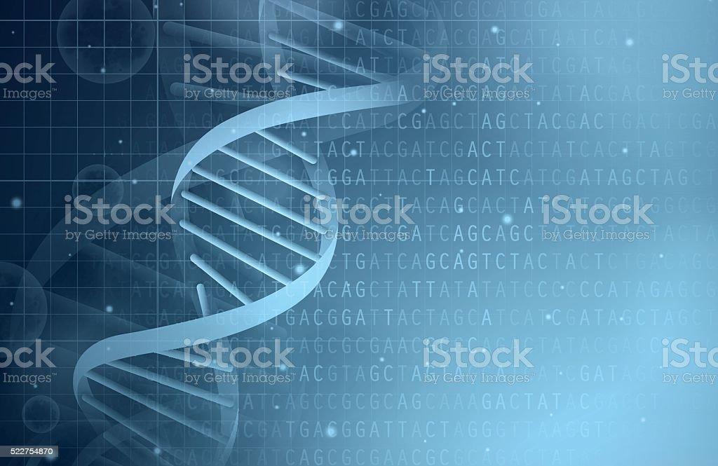 Fundo de DNA - ilustração de arte em vetor