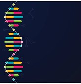 DNA background with space for your copy. EPS 10 file. Transparency effects used on highlight elements.