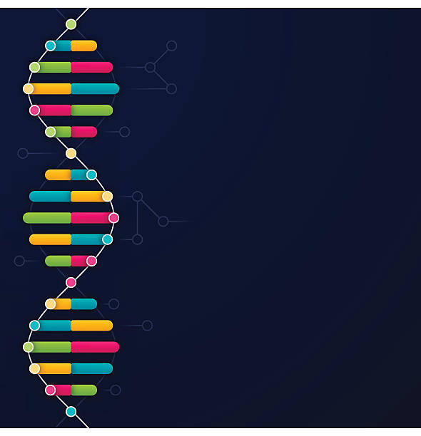 dna background - dna stock illustrations, clip art, cartoons, & icons