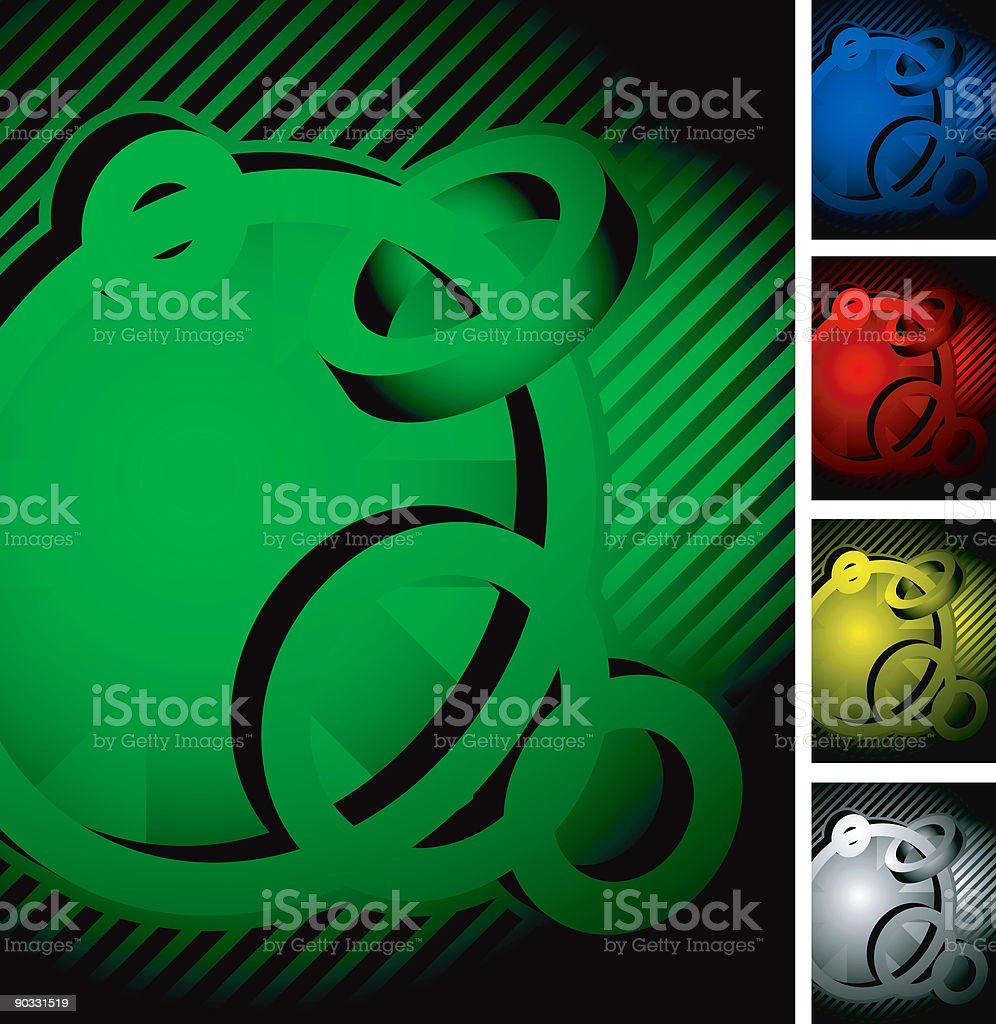 3D background (vector) royalty-free stock vector art