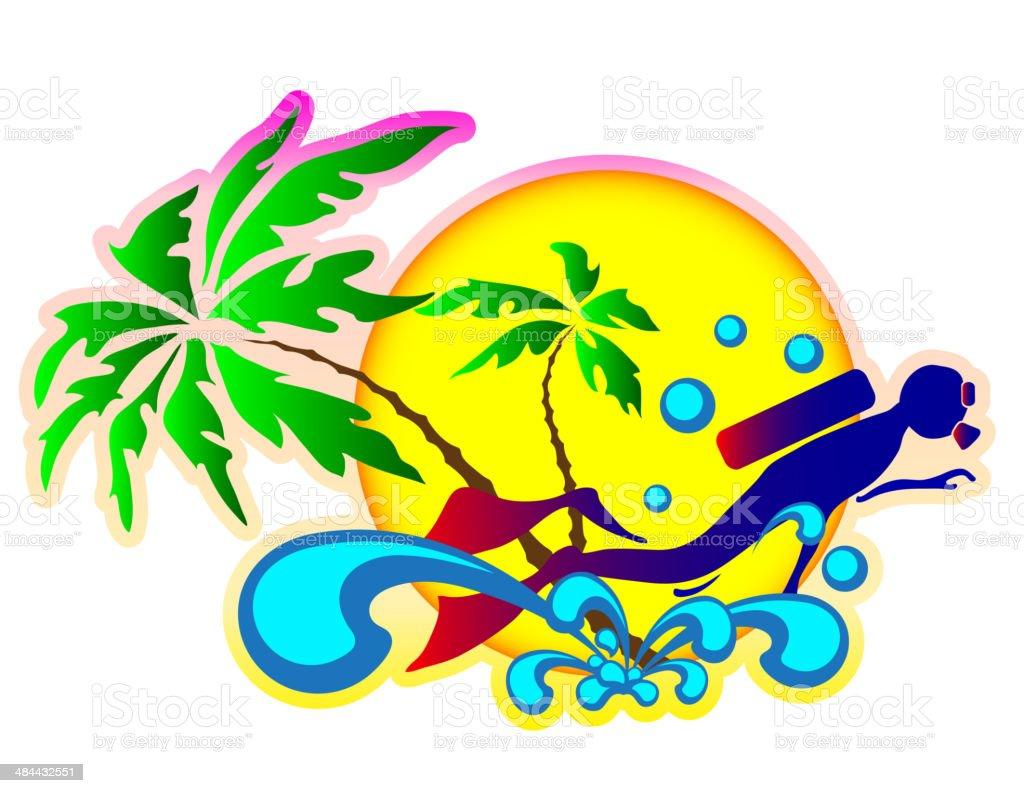 Vector De Fondo De Unas Vacaciones En El Mar - Arte vectorial de ...
