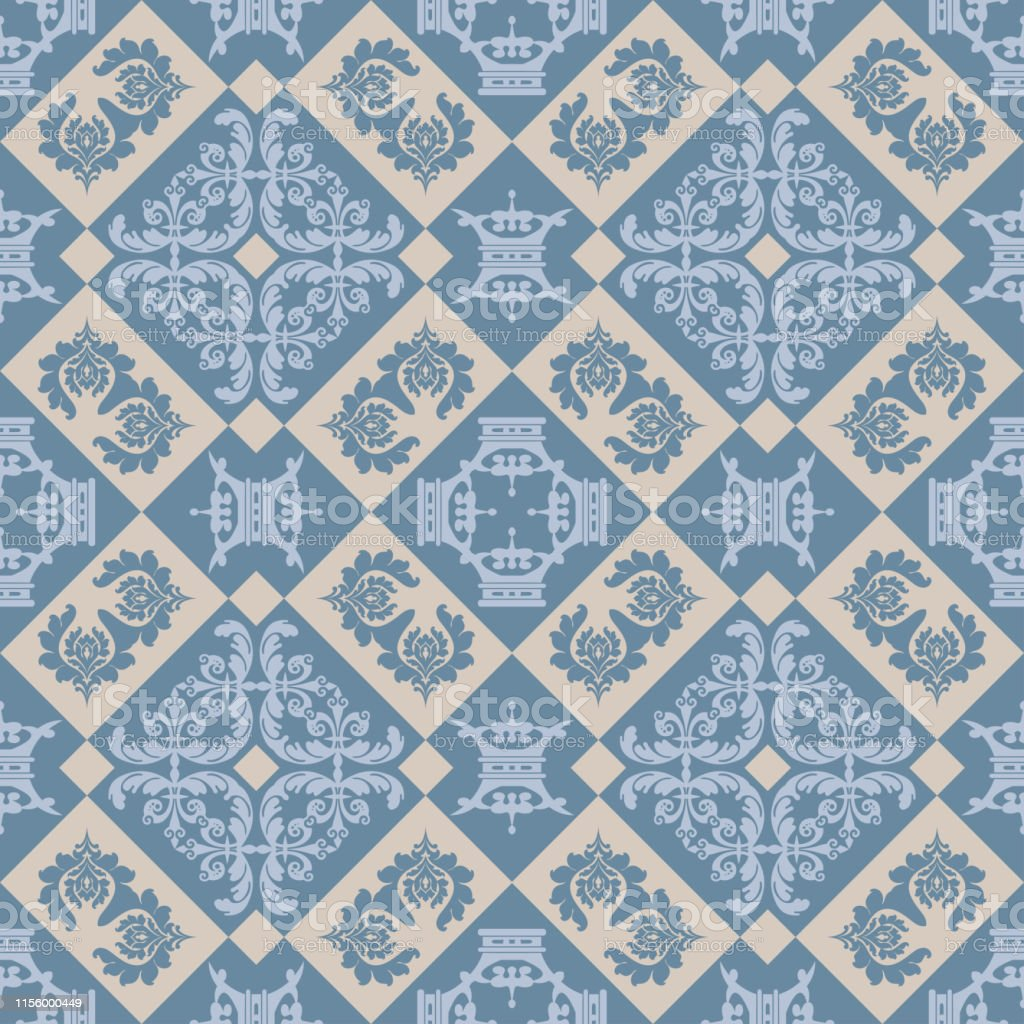 Hintergrundwallpaper Nahtloses Muster Im Vintagestil Stock