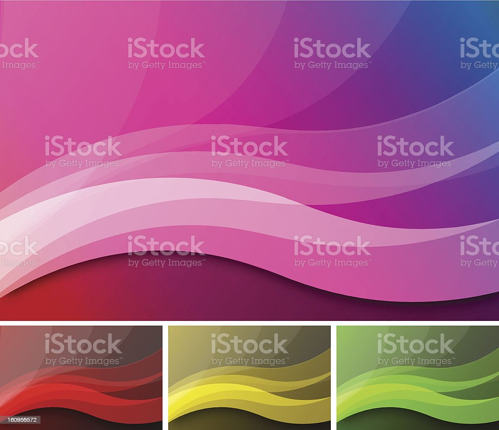 Background Waves royalty-free stock vector art