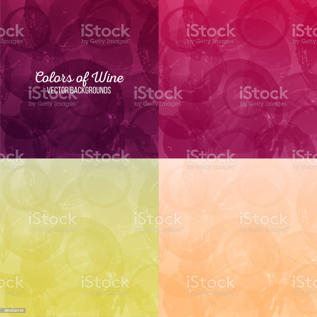 Background wine stains. Four different colors. vector texture vector art illustration