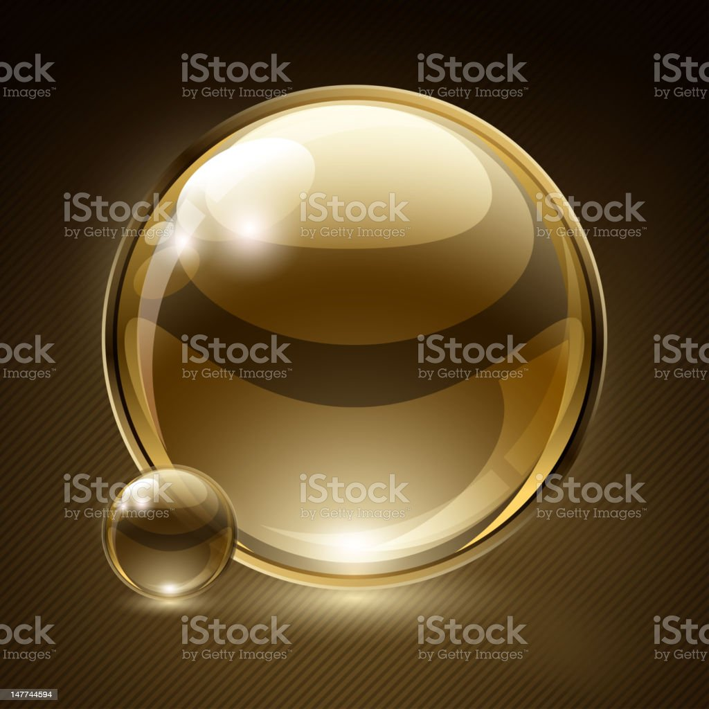 Background with a bubble vector art illustration