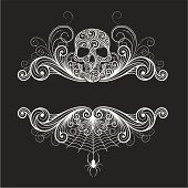 istock Background  with a decorative skull 104192365
