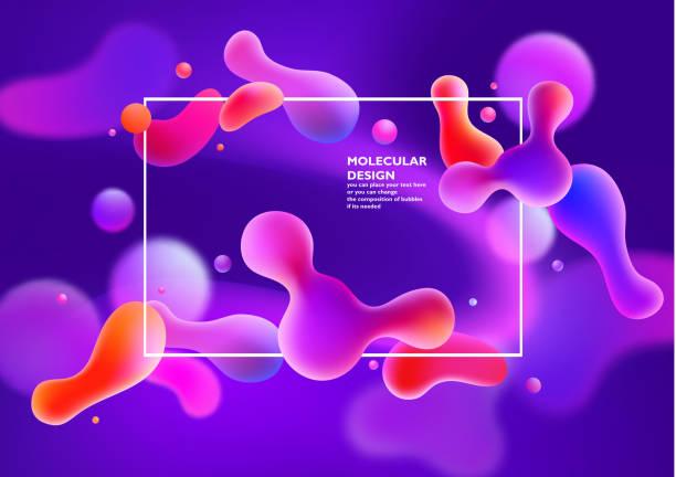 ilustrações de stock, clip art, desenhos animados e ícones de background with abstract colored bubbles - amiba
