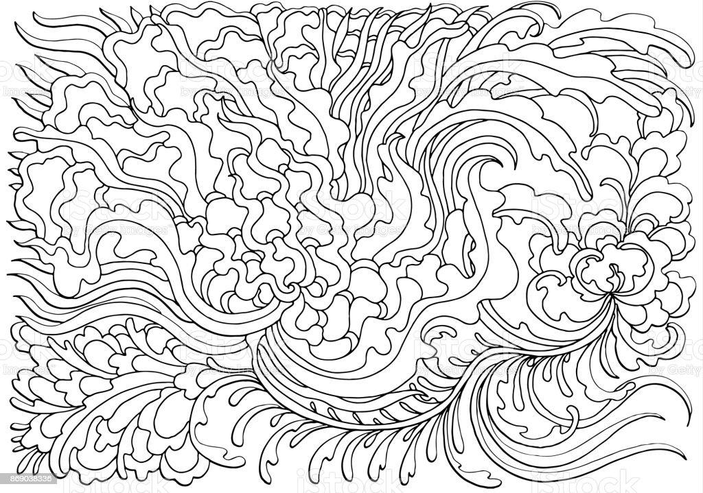 Ilustración de Fondo Con Ondas Abstractas Ilustración De Vector De ...