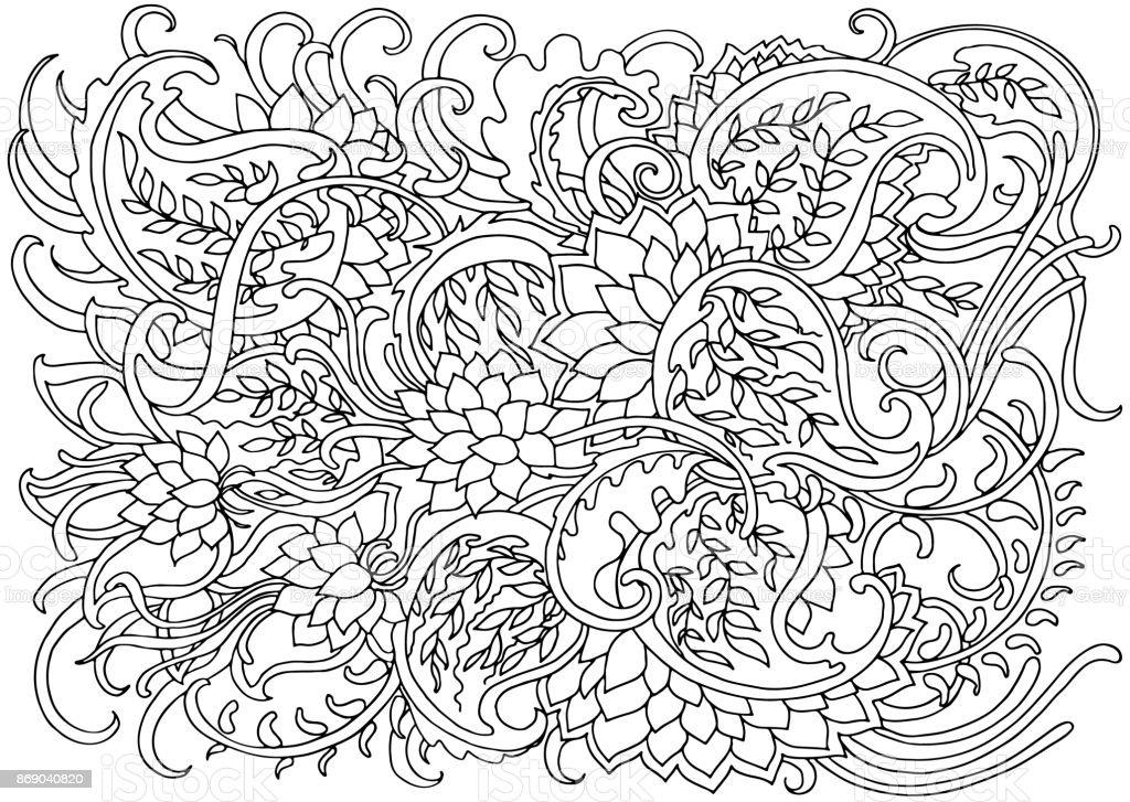 Fondo Con Ondas Abstractas Ilustración De Vector De Doodle De Blanco ...