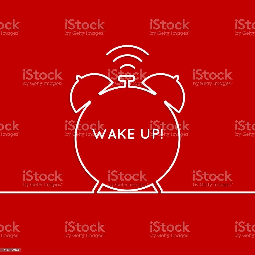 Background with alarm clock. vector art illustration