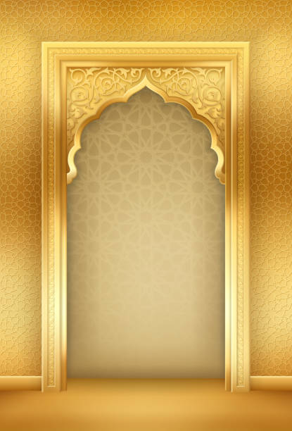 Background with Arch vector art illustration