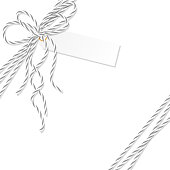Background with bakers twine bow and ribbons