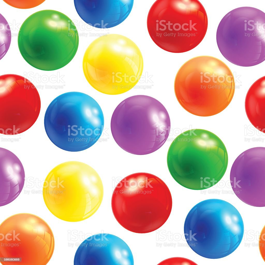 Background with balls seamless, vector vector art illustration