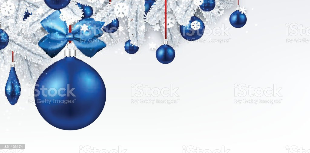 Background with blue 3d Christmas ball. royalty-free background with blue 3d christmas ball stock illustration - download image now