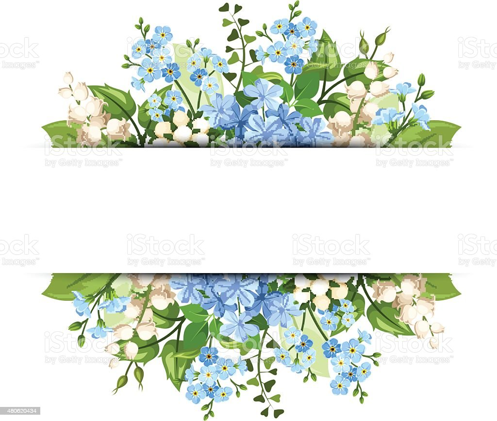 Background with blue and white flowers vector eps10 stock vector art background with blue and white flowers vector eps 10 royalty free background mightylinksfo Choice Image