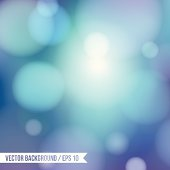 GREACEFUL BOKEH background with - BLUE