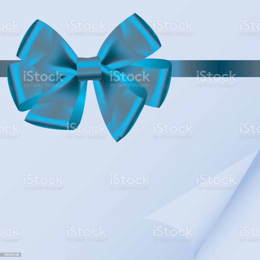 background with bow on realistic paper vector illustration vector art illustration