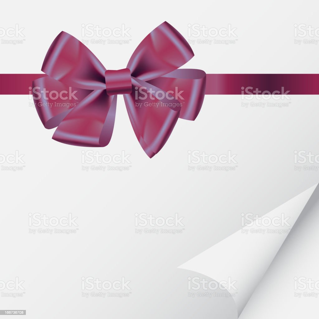 background with bow on realistic paper vector illustration royalty-free stock vector art
